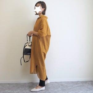 上下UNIQLO服に秋色ロングシャツをプラス♩AmiAmiの秋の新作シューズが使えそう!の画像
