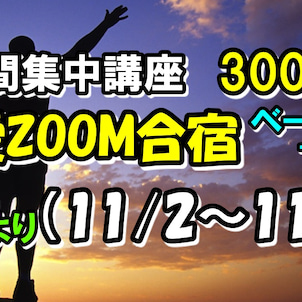 自愛ZOOM合宿ベーシック12(11/2~11/8)の画像