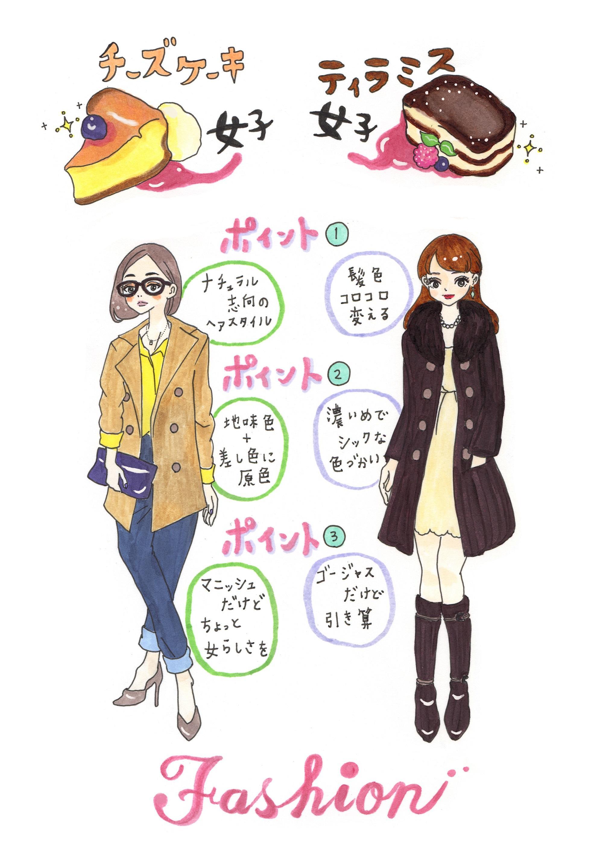 オシャレで知的。才色兼備女子のファッションと恋愛のクセ【イラスト