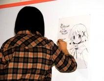 蒼樹うめ、即興でゆの&キュゥべえ描く「余計なせりふを足していい?」