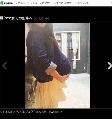 SHEILA 大食い直後の妊娠4か月・ギャル曽根のお腹公開 , Ameba News [アメーバニュース]