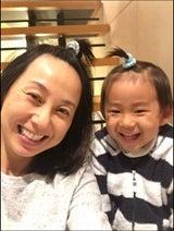 東尾理子 ちょんまげ前髪で息子とのツーショット公開