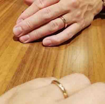 保田圭の夫が3月に失くした結婚指輪 新しい指輪が届く