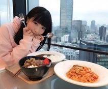 もえのあずき テレ朝社食で一気にカレー・牛丼・ナポリタン