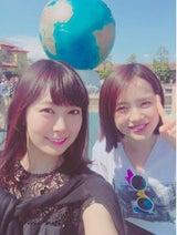 渡辺美優紀 テレ朝・弘中綾香アナとディズニー2ショット公開
