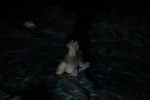 混浴温泉モデル、真夜中に入った露天風呂ショット公開「いろんな意味で怖かった」