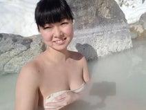 混浴温泉モデル、入浴中の自撮りは「思い切りが重要」
