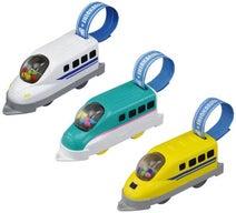 1歳半からの『はじめてのプラレール』人気の新幹線3種をモデルに登場