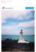 おのののか、ハワイで撮影したウエディングドレス姿公開「素敵」「美し過ぎ」と称賛の声