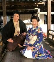 鈴木亮平、北川景子と西郷どん2ショット「篤姫様なりの幸せを見つけて欲しい」