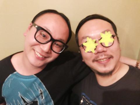 ニッチェ・江上、夫がトレエンたかしと2ショット「双子みたい」