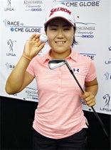 畑岡、1打差6位=女子ゴルフ