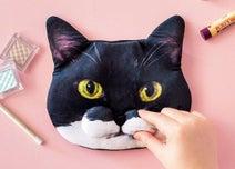 フェリシモ猫部、猫の「ω」部分を再現した「魅惑のもっちりひげ袋 ギズモさんポーチ」発売