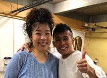 中島唱子、『ふぞろいの林檎たち』で夫婦役を演じた柳沢慎吾と2ショット