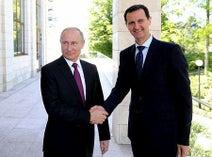 政治プロセスの進展呼び掛け=プーチン氏、シリア大統領と会談