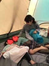 小倉優子、息子達と初キャンプへ「初めてテントの中で寝袋で寝ました!」