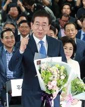 韓国、統一地方選で与党圧勝=文大統領「政府に大きな力」