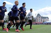 ロシアで練習開始=肌寒さの中、ミニゲームなど-サッカーW杯日本代表