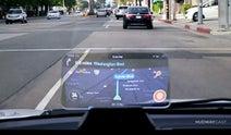 スマホの画面を車のフロントガラスに投影できる「ヘッドアップディスプレイ」がクラファンに登場