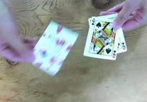 カードをふるふるするとメッセージが浮かび上がる!手品な「メッセージカードshe-she」