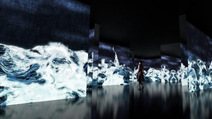 千住博氏とチームラボによる「水」をテーマとしたコラボレーション展がスタート