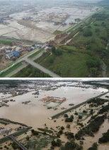 水引いた町、衛生悪化=支援物資、住民とずれも-岡山・真備