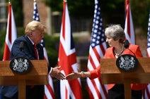 米英「最高水準の特別な関係」=批判控え、貿易協定目指す
