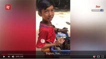 動画:アンコール・ワットの門前の小僧8か国語を操る
