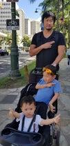 マック鈴木、ハワイで妻・小原正子から長男がケガしたと電話「誠希千が頭から血を流してる」