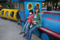 三田佳子、孫との楽しい時間を過ごすも「う~電池切れ 脅かさないで・・・」