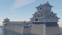 マインクラフトで高松城を作ってみた! 天守のそびえるかつての姿の再現に「凄い出来だ」「他の城もみたい」の声