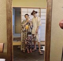 PINKY、夫・窪塚洋介らと和服姿の家族ショットを公開「とっても素敵」「綺麗」の声