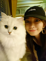細川直美、娘が猫カフェで夏休みの宿題「落ち着いた空間で猫ちゃんものんびり」