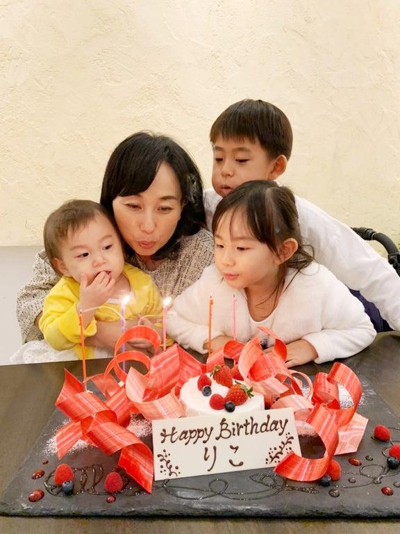 東尾理子、44歳の誕生日を家族でお祝い「幸せ満開」