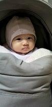 小原正子、生後4か月を迎えた娘の姿に「パパにそっくり」「めっちゃ可愛い」の声