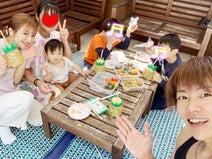 杉浦太陽、ベランダで弁当を広げて家族でピクニック「家でもアウトドア感覚」