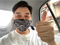 あべこうじ、妻・高橋愛の祖母が作ったマスクを絶賛「つけ心地抜群!!」