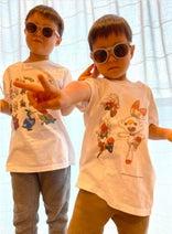 hitomi、ユニクロで子ども達がTシャツ作り「どんなのが出来るかな?」