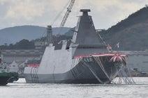 中国から尖閣諸島を守れ! 海自の新ステルス護衛艦「FFM2くまの」が進水
