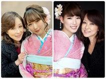 つちやかおり、娘達と自身の晴れ着姿を公開「三姉妹のよう」「可愛すぎ」の声
