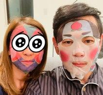 ココリコ・遠藤の妻、夫と美容タイム中の2ショットを公開「乾燥が気になるので」