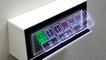 ホログラムのトイレボタン? やっぱり、日本は未来に生きてるな