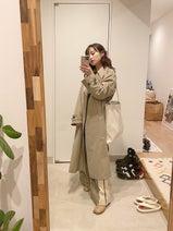 高橋愛『ユニクロ』の可愛いコートを披露「たくさん着なくっちゃ!」