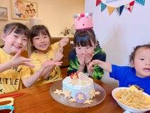 エハラマサヒロの妻、長女の誕生日を家族で祝福「パパがお寿司屋さんの大将です」