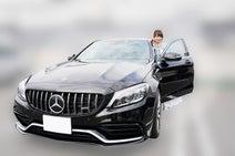 渡辺美奈代、愛車ベンツに乗り夫婦でドライブ「黒と赤の内装がポイントです」