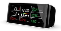 大型ディスプレイで様々な情報を表示!卓上多機能CO2メーター