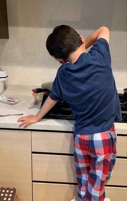 小倉優子、長男が朝食作りに失敗し落胆「すごい」「偉い」の声