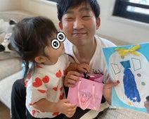 """ノンスタ石田の妻、娘達が手作りした""""父の日""""のプレゼント「大喜びでしたっ!」"""