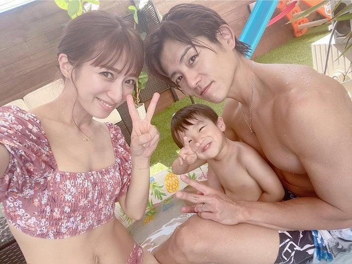 辻希美、自宅のプールで水着姿を披露「私も今年初プール楽しかったです」