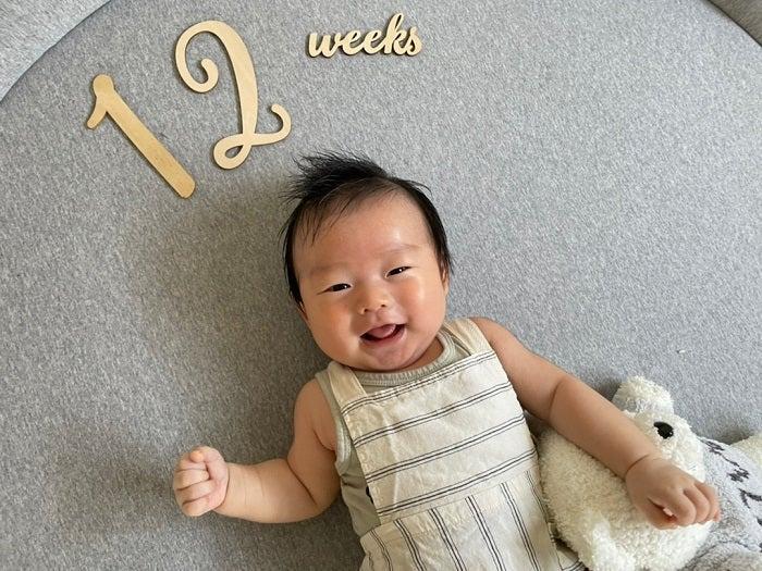 あいのり・桃、生後12週を迎えた息子の変化を報告「成長が早くてびっくり」「可愛いですね」の声